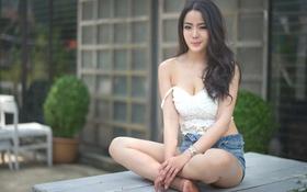 Картинка лето, взгляд, лицо, азиатка, милашка