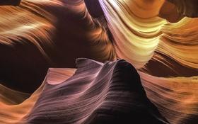 Обои свет, природа, скала, каньон, пещера