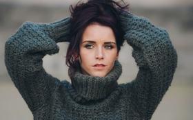 Картинка свитер, David Olkarny, Purple crush
