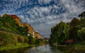 Обои мост, река, Город