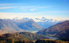 Обои горы, долина, Новая Зеландия, ущелье, Otago