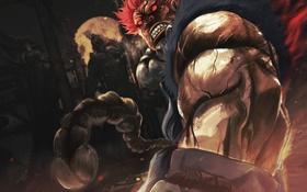 Обои демон, боец, devil, Street Fighter, Akuma, capcom
