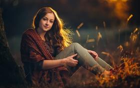 Картинка осень, закат, джинсы, прелесть, Eszter, autumn session