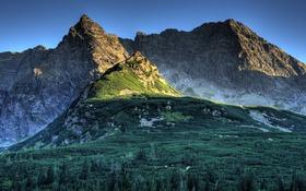 Обои mountains, rocks, vegetation