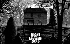 Обои house, zombies, night of the living dead