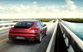 Обои Porsche, Panamera, порше, панамера, Turbo, 2014