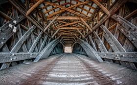 Картинка дорога, мост, город