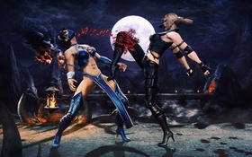 Картинка Mortal Kombat, китана, Смертельная битва, kitana, Sonya Blade, Соня Блейд, Мортал комбат