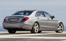 Обои машина, Mercedes-Benz, седан, Hybrid, задок, S 400