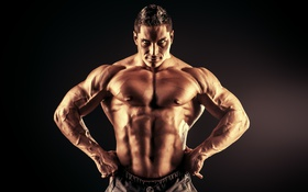 Обои muscles, super power, bodybuilder, brightness, steroids, pose