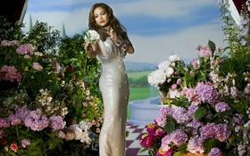 Картинка Jennifer Lopez, Flowers, Perfume