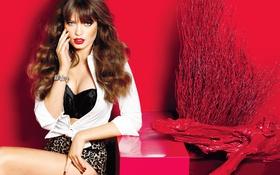 Картинка Model, Fashion, Glamour, Sandra Hellberg, Makeup, Brands, Accessories