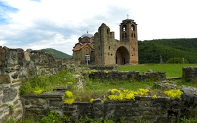 Обои церковь, развалины, Сербия, Crkva Svetog Nikole