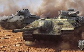 Обои tank, E-25, танк, танки, World of Tanks, Panther II, Wargaming.Net