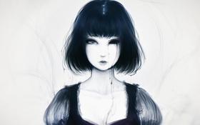 Картинка капли, Девушка, один глаз