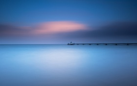 Обои coast, long exposure, clevedon pier, clevedon