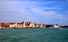 Картинка море, дома, Италия, Венеция, канал