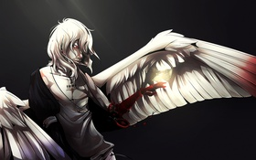 Обои кровь, рука, крылья, ангел