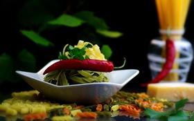 Картинка перец, овощи, макароны, паста