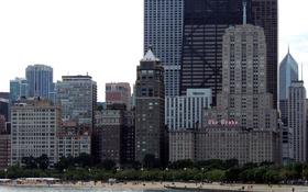 Картинка небоскребы, USA, чикаго, Chicago, illinois