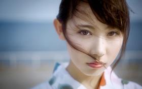 Картинка взгляд, локон, восточная девушка