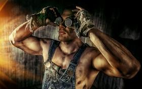 Картинка чумазый, руки, парень, работяга, очки