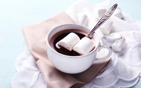 Обои шоколад, hot, cup, chocolate, какао, cocoa, зефир