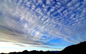Обои облака, горы, горизонт, небо