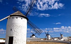 Обои небо, облака, Испания, ветряная мельница