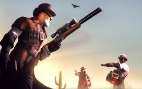 Обои Team Fortress 2, steampunk, Engineer, Demoman, Подрывник, Инжeнер