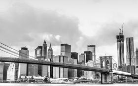 Обои мост, город, дома, NYC, Manhattan Bridge