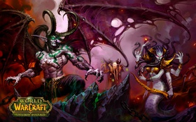 Обои wow, world of warcraft, illidan, вов, Иллидан Ярость Бури