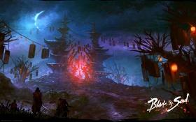 Картинка фэнтези, арт, mmorpg, ncsoft, blade and soul, blade & soul, локация