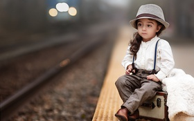 Картинка дорога, девочка, шляпка