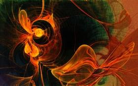 Картинка узор, газ, свет, фрактал, дым, цвет
