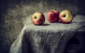 Обои яблоки, фрукты, еда