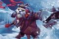 Картинка кулак, снег, Dota 2, Tusk