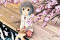 Картинка девушка, аниме, лепестки, сакура, арт, narumiya yume, idolmaster cinderella girls