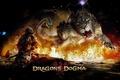 Картинка огонь, пламя, игра, лев, воин, змей, Dragons Dogma1