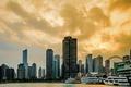 Картинка здания, яхты, небоскребы, вечер, Чикаго, USA, Chicago