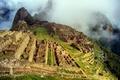 Картинка небо, горы, город, развалины, руины, Перу, Мачу-Пикчу