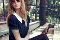 Картинка девушка, волосы, платье, очки, Josephine Skriver