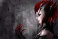 Картинка девушка, рука, арт, профиль, League of Legends, Elise
