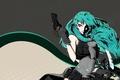 Картинка Gun, Hatsune Miku, Art, Vocaloid