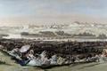 Картинка пейзаж, город, река, люди, отдых, картина, Франсиско Гойя