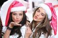 Картинка новый год, рождество, Adriana Lima, Alessandra Ambrosio, модели, Victoria's Secret Angels