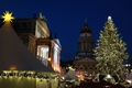 Картинка Германия, площадь, Рождество, Берлин, ярмарка, Жандарменмаркт, Концертный дом
