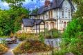 Картинка зелень, деревья, дом, Англия, обработка, отель, Alderley Edge