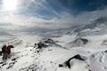 Картинка зима, снег, горы, спорт, экстрим, скалолазы