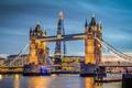 Картинка небо, мост, река, Англия, Лондон, башня, Shard